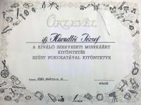 Havadtői Jószef Aranykoszorús Órásmester
